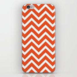 red, white zig zag pattern design iPhone Skin