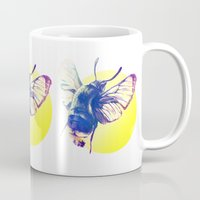 bug Mugs featuring bug by Xenia Pirovskikh