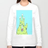 larry Long Sleeve T-shirts featuring Hairy Larry by Motherlyn