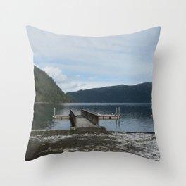 Love on the Lake Throw Pillow