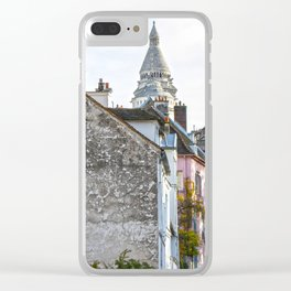 French street in Montmartre, Paris Clear iPhone Case