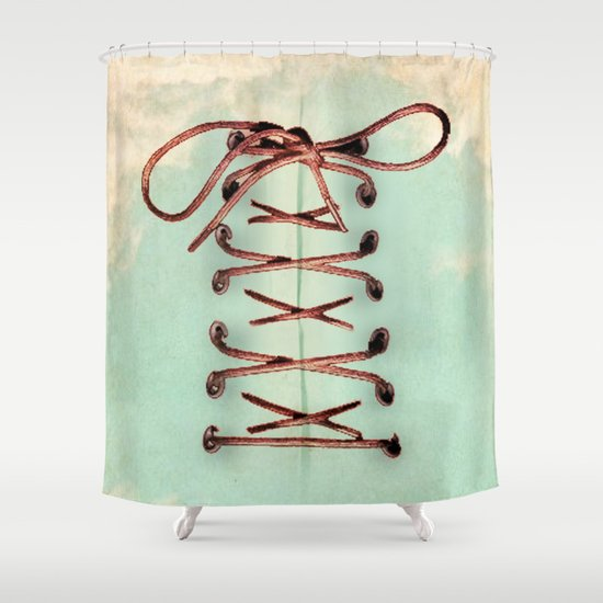 Lacing up the sky Shower Curtain