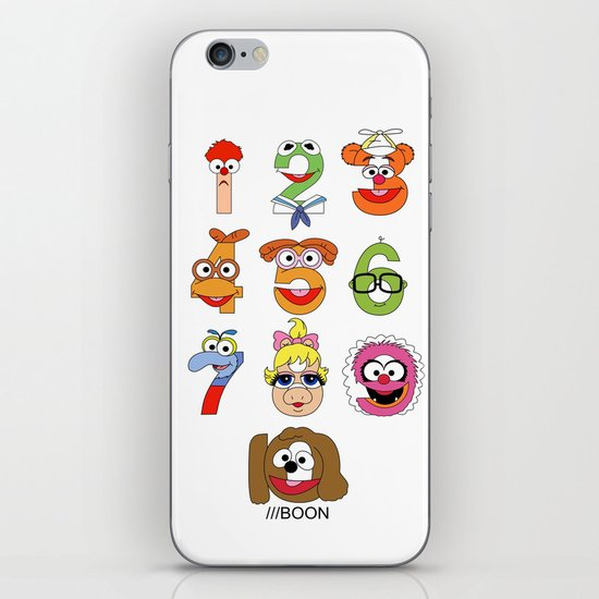 Muppet Babies Numbers iPhone & iPod Skin