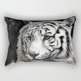 The Observant Tiger Rectangular Pillow
