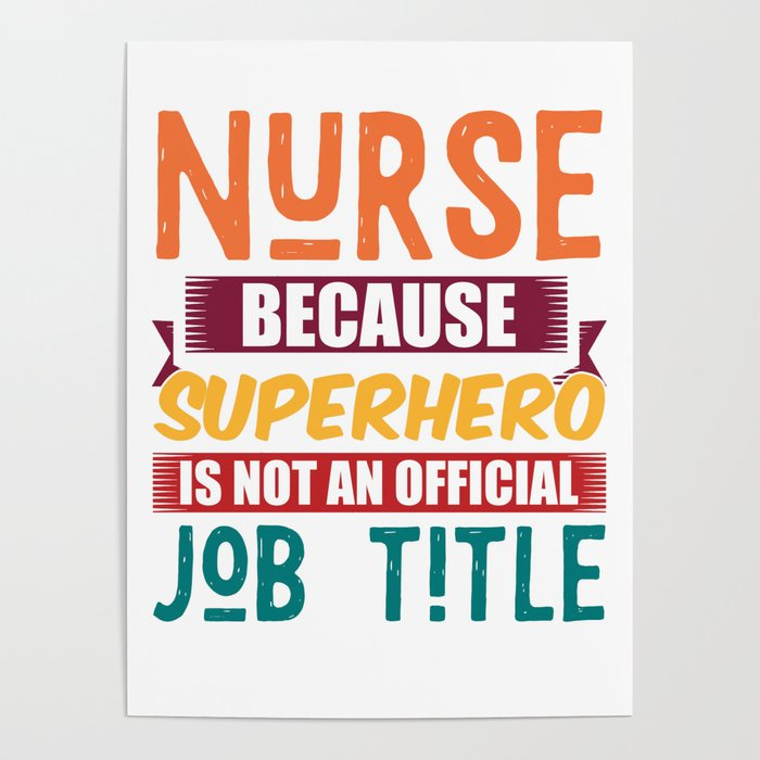 Nurse Superheroine Profession Poster