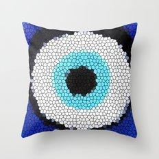 Blue eye Luck Throw Pillow
