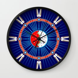 Crazy Horse Dreaming Wall Clock