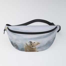 The Wanderer Above the Sea of Doge Fanny Pack