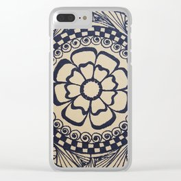 Henna flower Clear iPhone Case