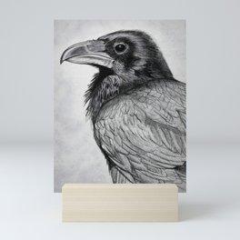 Corvus Corax (The Common Raven) Mini Art Print