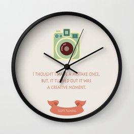 Creative moment Wall Clock