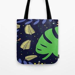 Tropical Leaves & Ferns Tote Bag