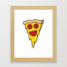 Happy Pepperoni Framed Art Print