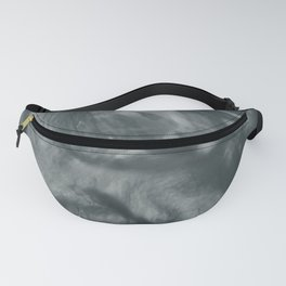 PPG Night Watch (Pewter Green) Flowing Pearlescent Haze, Opalescent Fluid Art Fanny Pack