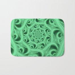Fractal Web in Flourescent Green Bath Mat