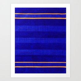 N241 - Navy Deep Calm Blue Velvet Texture Moroccan Style  Art Print