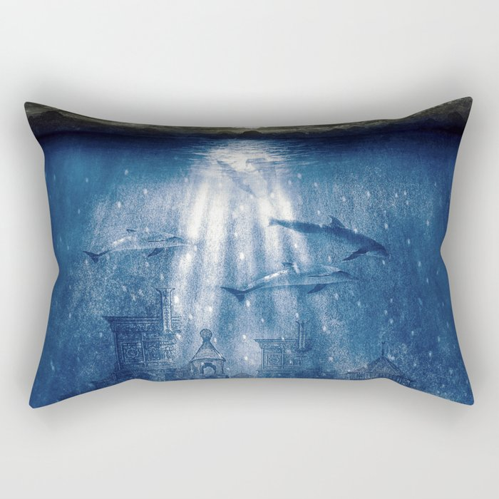 dolphins, civilization. Rectangular Pillow