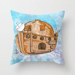 Nave : viagem no tempo Throw Pillow