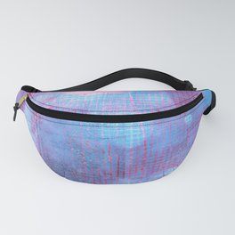 Crimson Clover, Abstract Monoprint Painting Fanny Pack
