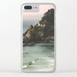Pacific Northwest Grandeur - Heceda Lighthouse Clear iPhone Case