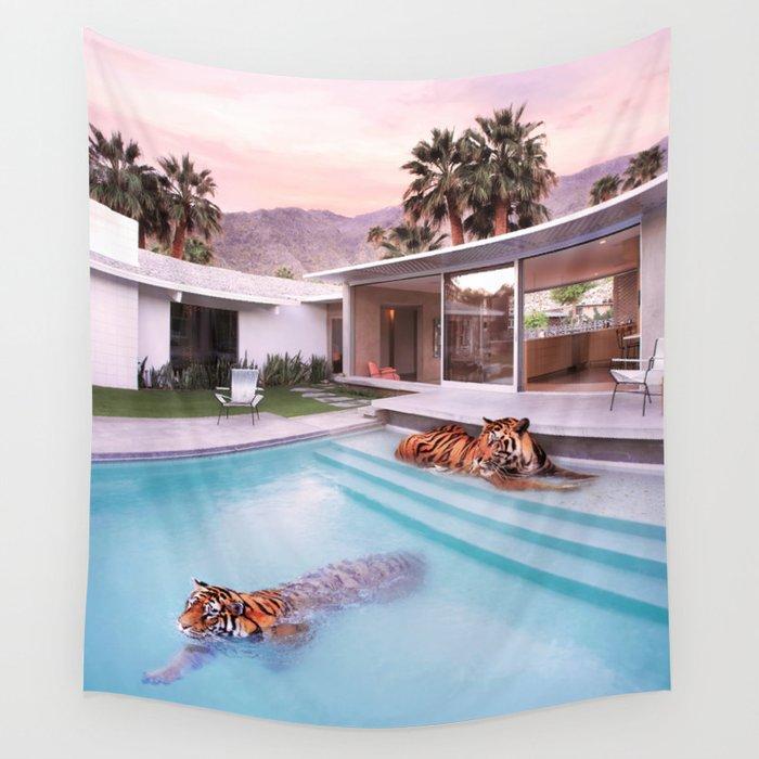Palm Springs Tigers Wandbehang