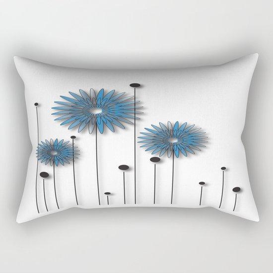 Night Flowers No. 2 Rectangular Pillow