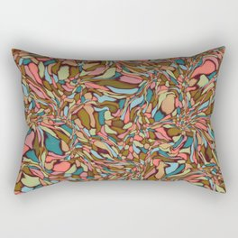 Terrazzo-Vintage colors Rectangular Pillow