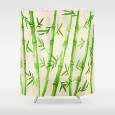 Bamboo Pattern Shower Curtain
