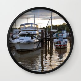 Chesapeake Docks Wall Clock