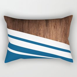Wood of blue Rectangular Pillow