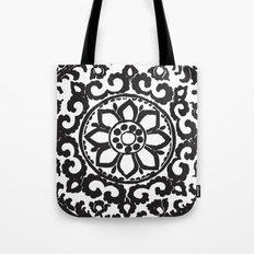 Black Ornament Art Deco Tote Bag