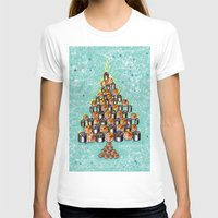 christmas tree T-shirts featuring Christmas Tree by nabisori33(walking bear)