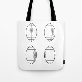 American Football Ball Spinning Sequence Drawing Tote Bag