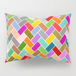 Colourful Tiled Mosaic Pattern Pillow Sham