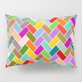 Colourful Tiled Mosaic Pattern Pillow Sham