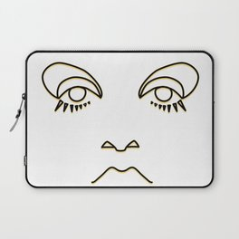 Twiggy in black and yellow Laptop Sleeve