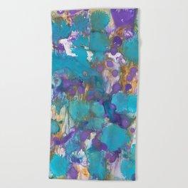 Blue Blossom Beach Towel