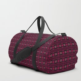 Ornate Greek Bands in Pink Duffle Bag