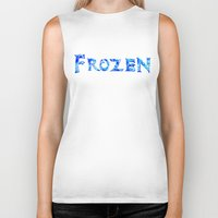 frozen Biker Tanks featuring Frozen  by Sierra Christy Art