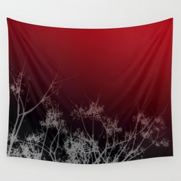 Tree Top-Red Wall Tapestry