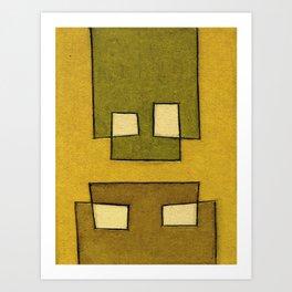 Protoglifo 02 'ochre closer to green' Art Print