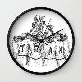 """TEAM"" (The Art of Lax™) Wall Clock"