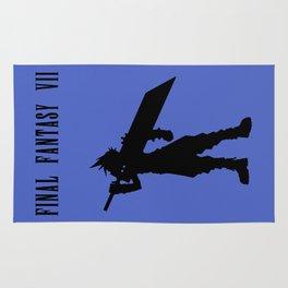Cloud Strife Silhouette Minimal (Black) - Final Fantasy VII Rug