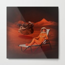 Quiverish Space Lounge 1 Metal Print