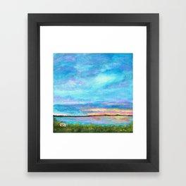 Good Morning, Beach House Sunrise Framed Art Print