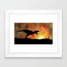 Jurassic Jogger Framed Art Print