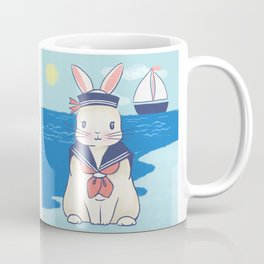 Sailor Bunny At The Beach Coffee Mug
