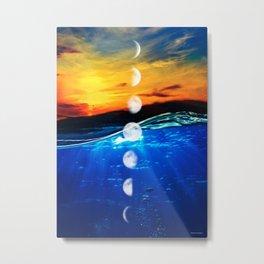 Moon phases #4 Metal Print