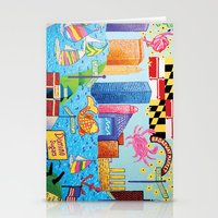 baltimore Stationery Cards featuring Baltimore, Maryland by Karen Riddle