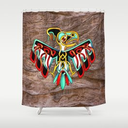 Thunderbird-knot Shower Curtain